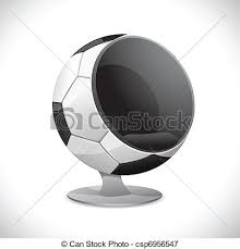 chaise boule chaise boule football balle résumé illustration forme