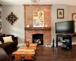 Interior Design Pics Living Room by Brick Fireplace Houzz