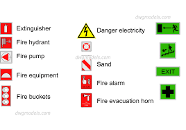 fire extinguisher symbol floor plan cad fire symbols