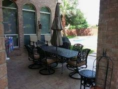 Yard Art Patio And Fireplace Hanamint Chateau Extension Dining Table Enjoy Your Outdoor Room