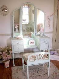 Antique Vanity With Mirror And Bench - table scenic antique vanity table with mirror and bench vintage