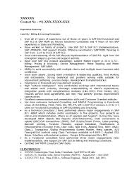 Sample Resume For One Year Experienced Software Engineer Sap Is Industry Solutions Sample Resume 14 00 Years Experience