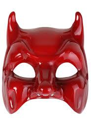 glossy red devil masquerade mask devil costume halloween mask