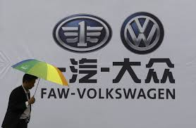 volkswagen umbrella companies china car industry rumor dongfeng faw trading halt chairman