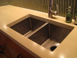 Concrete Kitchen Sink by Double Undermount Kitchen Sink In White Countertop Google Search