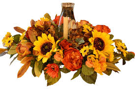 sunflower thanksgiving centerpiece traditional artificial