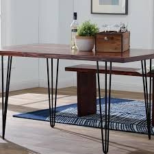 vintage hairpin table legs vintage hairpin leg dining table rustic kitchen industrial with