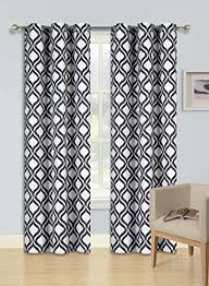 Drapes Black And White Black And White Curtains For Living Room Amazon Com