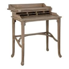 Small Wood Writing Desk Handmade Caign Writing Desk Small Wood By Oka Olioboard