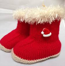 baby u0027s first christmas booties u2013 santa hat button harwell crafts