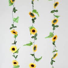 6ft yellow sunflower artificial wedding garlands wholesale ebay
