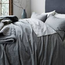 gray u0026 willow tromso stripe flannel super king duvet cover house