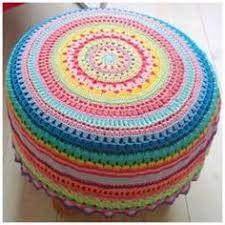 Crochet Ottoman Pattern Crochet Pouf Ottoman Floor Cushion Pdf Pattern And