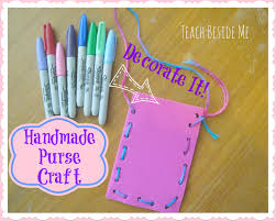 girly purse craft teach beside me