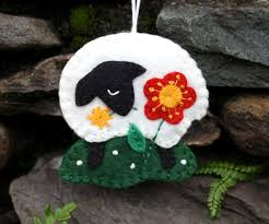 felt ornament handmade felt sheep ornament sheep