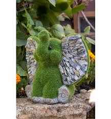 flocked sitting elephant ornament kent collection