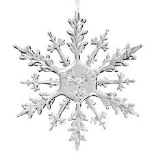 abbott collection flat acrylic snowflake ornament 12