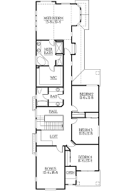floor plans for narrow lots narrow lot home plan with options 23250jd architectural