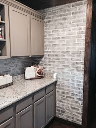kitchen panels backsplash lowes brick panels painted white brick backsplash paint color