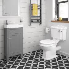traditional bathroom furniture grey vanity unit sink cloakroom