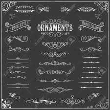 chalkboard ornaments collection of chalk vintage