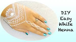 diy easy and modern white henna mehndi tattoo design