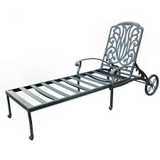 Metal Chaise Aluminum Patio Chaise Lounge Chairs With Wheel Back Chaise