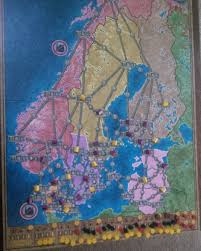 Map Northern Europe by Power Grid U2013 Board And Game
