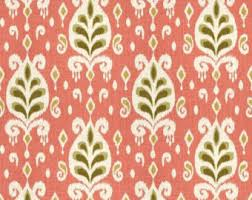 Home Decor Fabric Ikat Fabric Etsy