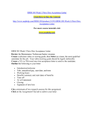 hrm 300 week 3 new hire acceptance letter by bluebell795 issuu