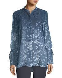 ombre blouse lafayette 148 york desra ombré leaves blouse neiman
