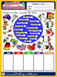countries and nationalities worksheet 9 english worksheets