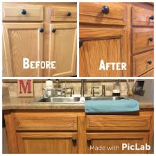 Diy Gel Stain Kitchen Cabinets Honey Oak Cabinets Restained With Genera Finishes American Oak Gel