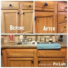 honey oak cabinets restained with genera finishes american oak gel