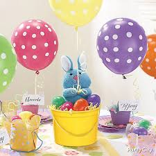 balloon centerpiece plush bunny and balloon centerpiece idea party city