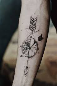 l tat de si e tatuaggi uomo avambraccio avambraccio bussola orologio