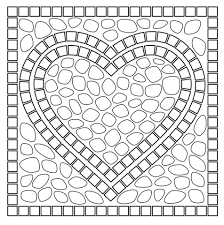 mosaic heart coloring free printable coloring pages