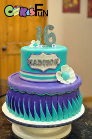 sweet 16 birthday cake cake by cakes for fun cakesdecor