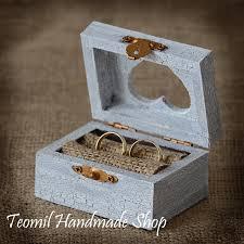 wedding rings in box wedding ring box ring bearer ring pillow rustic vintage
