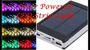 Led Light Strips by Solar Battery Powered 5050 Rgb Led Strip Light Kit Waterproof