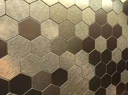 Metallic Tile Backsplash by Metal Tile Backsplash Chip Cox