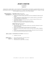 Administrative Assistant Functional Resume Resume Template Example Combination Templates Targeted My
