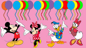 mickey u0026 minnie mouse daisy u0026 donald duck learn colors coloring