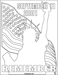 September 11 Coloring 9 11 Remember Coloring Poster Coloring Pages For September