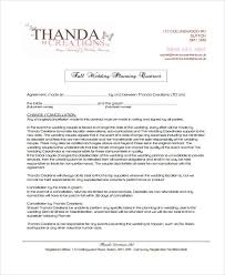 wedding planner contracts 5 planner contract templates free sle exle format