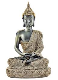 home sculptures thai blessing zen buddha meditating peace harmony statue