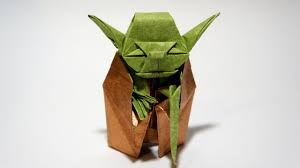 Origami Jedi Master Yoda Fumiaki Kawahata Star Wars