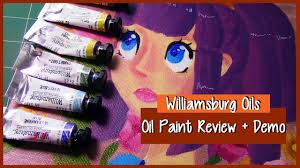 williamsburg paint colors williamsburg oils review demo oil paint illustration youtube