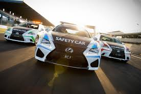 lexus rc f series lexus rc f to serve as safety car for v8 supercars series