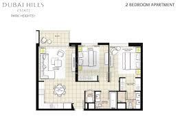 floor plans park heights dubai hills estate by emaar